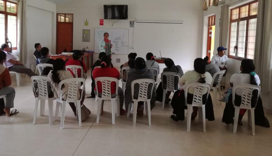 Capacitación en temas de gestión del desarrollo, para empoderamiento de la mujer campesina en Huánuco y Ucayali.