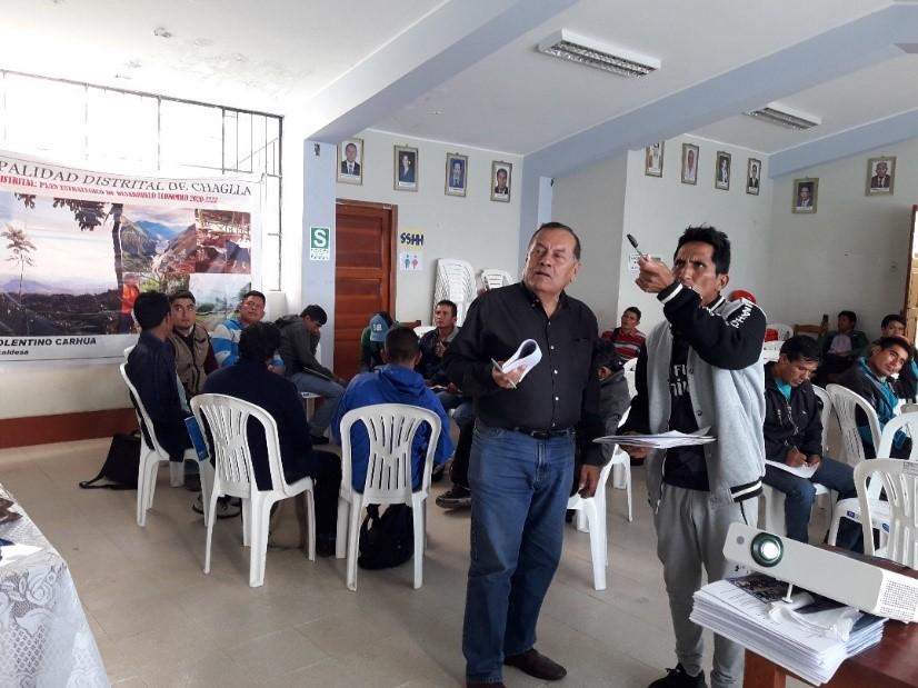 DETEC y la Municipalidad Distrital de Chaglla, desarrollan Taller para elaborar el Plan de Desarrollo de la Economía Sostenible 2020-2024